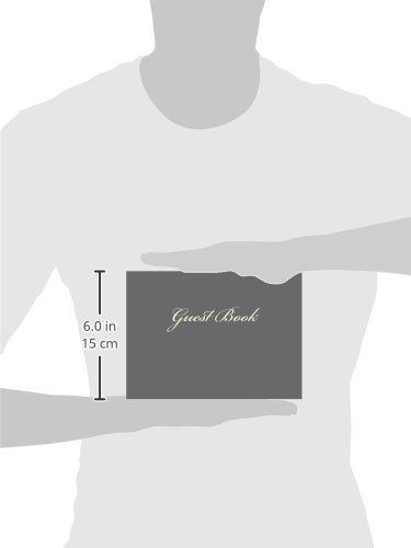 Guest Book (Gray Blank Pages Edition): Classic Gray Service Option - ON SALE NOW - JUST $6.99: Volume 20 (Guest Books)