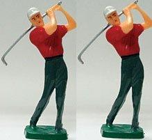 Cakesupplyshopm Item784r - Male Golfer Cake Decoration Topper Kit -2pack