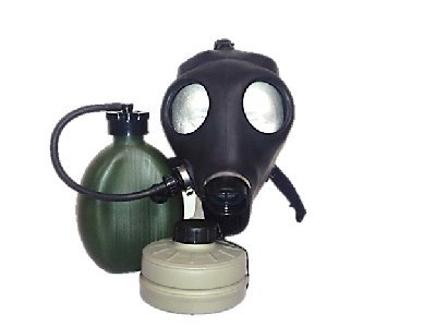 Israeli Adult Gas Mask with Nato Filter and Hydration Canteen New