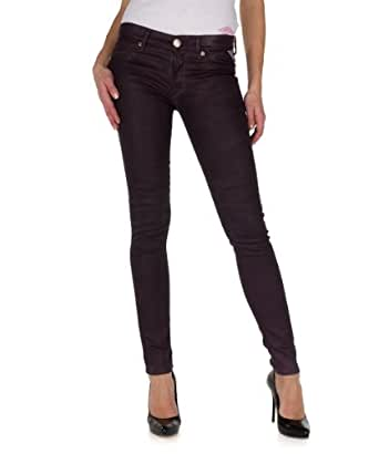 Replay Women's Skinny Fit Jeans - Purple - Violett (274) - 27/34 (Brand size: 27/34)