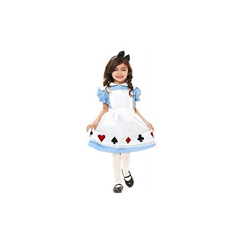不思議の国のアリス  子供用   ワンピース ハロウィン 衣装 仮装 コスチューム キッズ 服 ruleronline (90cm)