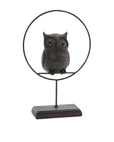 J-Line Dekoartikel Owl braun