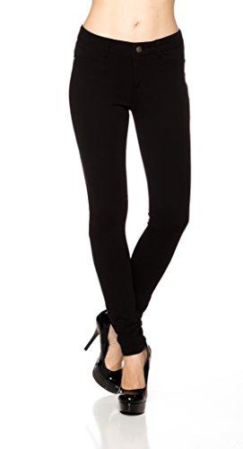 A.S Juniors Ponte Knit High Rise Stretch Skinny Jegging Pants (Medium, Black) (Ponte Knit Skinny Pants compare prices)