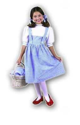 Child Dorothy from Wizard of Oz Costume (Basket, shoes and tights not included)