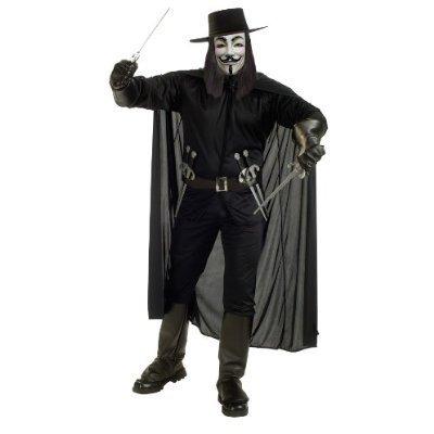 V For Vendetta Halloween Costume - Adult Size Standard