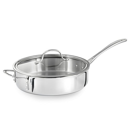 Calphalon Triply Stainless Steel 3-Quart Saute Pan with Cover