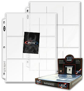 100 BCW 9-Pocket Plastic Sheets