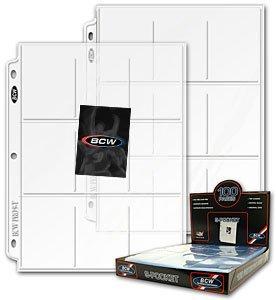 100 BCW 9-Pocket Plastic Sheets