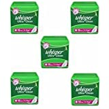 Whisper Ultra Clean - XL Wings (15 Pads) Pack Of 5