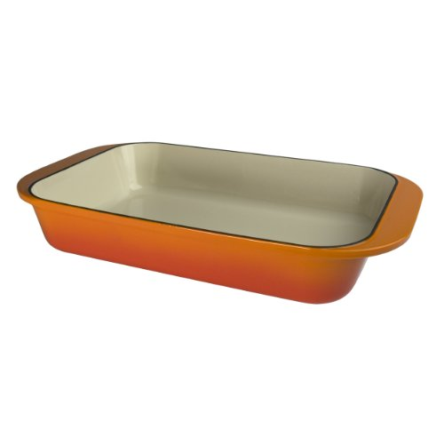 Artland La Maison Cast Iron Rectangular Baker, 5-Quart, Orange
