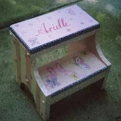 Personalized Butterfly Step Stool by Ababy