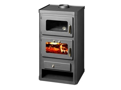 Estufa de leña con horno, potencia 12kw