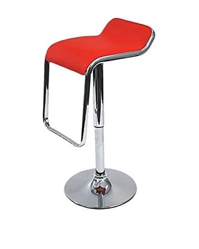 Manhattan Living Flat Bar Stool Chair, Red