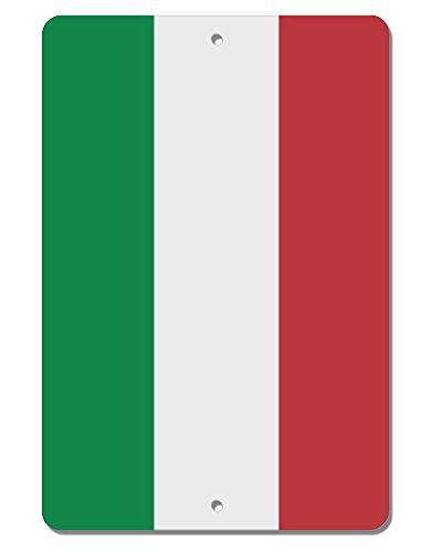 TooLoud Italian Flag All Over Aluminum 8 x 12