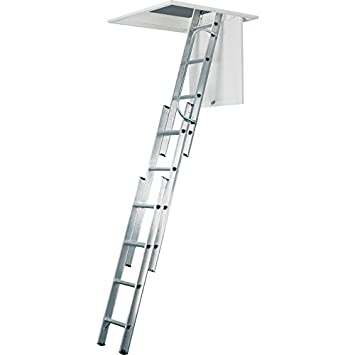 Werner aluminio loft escalera 3 secci n for Escaleras aluminio amazon