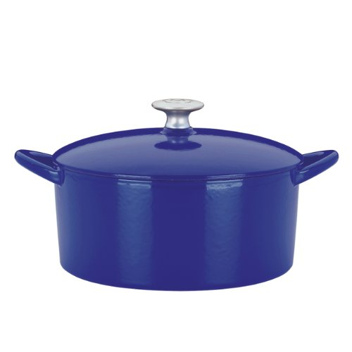 Mario Batali 826789 Enameled Cast Iron 2-Cup Dutch Oven, Mini, Cobalt (Small Dutch Oven Cast Iron compare prices)