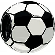 Authentic Chamilia Soccer Ball Na-48 Charm Bead Gift Boxed