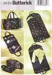 BUTTERICK 3934 TRAVEL BAGS SEWING PATTERN