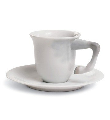 EQUUS COFFEE CUP WITH SAUCER Lladro Porcelain equus