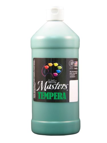 Little Masters by Rock Paint 203-745 Tempera Paint, 1, Green, 32-Ounce