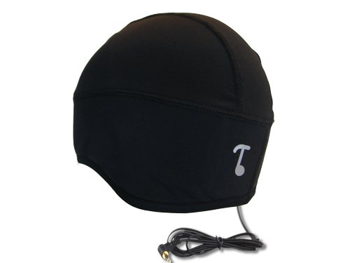 Tooks Sportec Skully Audio Headphone Beanie Hat With Built-In Removable Headphones - Color: Black, Comfortable 100% Prostretch (Dryfit) Keeps You Cool, Wear Standalone Or Under Helmets, Unique Gift Idea