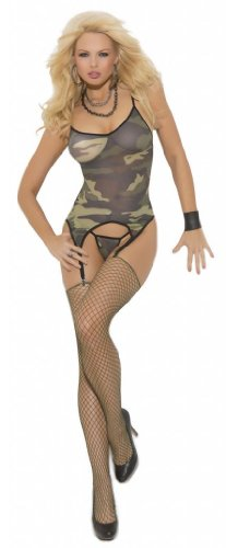 Costume Adventure Women's Camouflage Army Girl Lingerie Costume Set