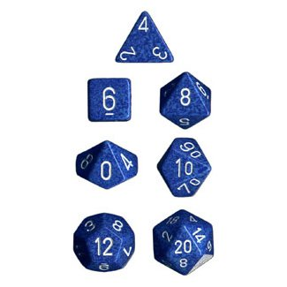 Polyhedral 7-Die Chessex Dice Set - Speckled Water