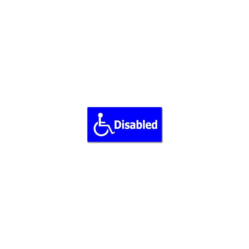 Handicapped Disabled   Window Bumper Sticker