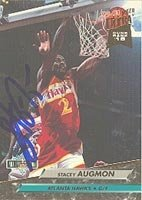 Stacey Augmon Atlanta Hawks 1992 Fleer Ultra Autographed Hand Signed Trading Card -... by Hall+of+Fame+Memorabilia