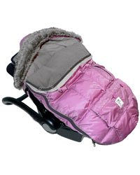 7 A.M. Enfant Le Sac Igloo Extendable Baby Bunting Bag Adaptable for Strollers, Pink Large