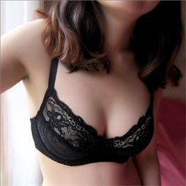Sexy Slim Black Lace Bra Double-row Buckles Tire Covers U-shape Solid Color Summer Young Womens Sexy Charming Bras