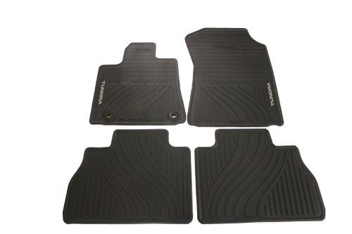 Genuine Toyota Accessories PT908-34121-20 Front and Rear All-Weather Floor Mat (Black), Set of 4 by Toyota (All Weather Mat Cleaner compare prices)