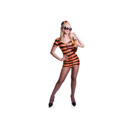 Sexy Celebrity Prisoner (orange) Costume Adult Halloween Size Small