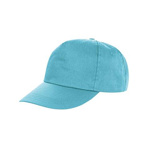 10x velcro cappellino da Baseball = 100% poliestere in 14colori-(Panettieri berretto-berretto-berretto guidatore) da macellaio, Taglia unica, Aqua (hellblau), 1