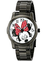 Disney Unisex W001843 Minnie Mouse Analog Display Analog Quartz Black Watch