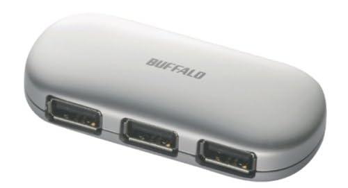iBUFFALO パソコン/液晶TV[REGZA][AQUOS]対応 (ACアダプタ付)USB2.0ハブ セルフ&バスパワー 4ポート シルバー BSH4A01SV