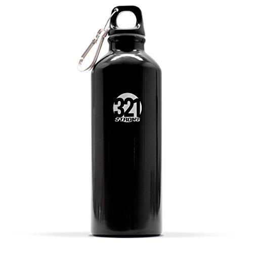 500 mL ( 16.9 fluid ounce ) Aluminum Sports Water Bottle , Black (Bike Bottle compare prices)