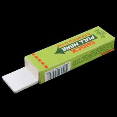 Safety Electric Shock Shocking Chewing Gum Joke Toy (Random Color)