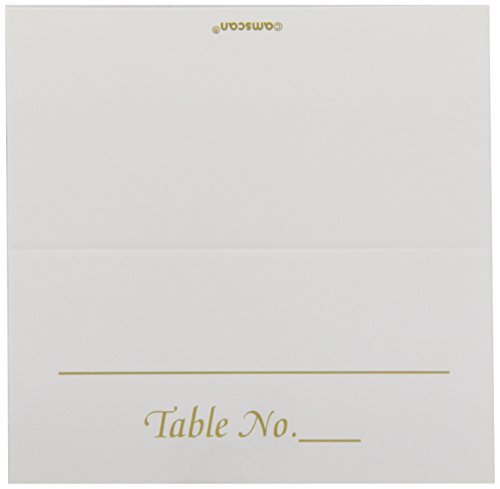 "Amscan Classic Silver Table Number Place Cards (50 Piece), 3.5 x 4"", Gold"