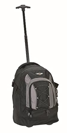 Rockland Luggage 19 Inch Rolling Backpack, Black, One Size