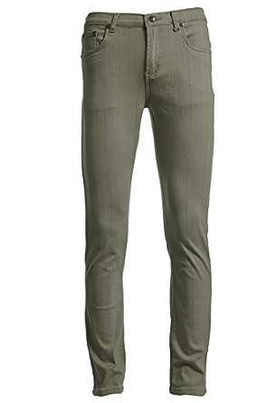 Men Skinny Sand colored Stretch Jeans 28W X 30L
