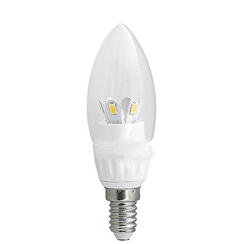 MSC 3Watt Glühbirne Kerze Warm/Cool weiß 300Lumen LED Kerze E14kleine Edison-Schraube Leuchtmittel 3000K 3W?35W Glühlampe equivelant - 2 Pack - Kaltweiß