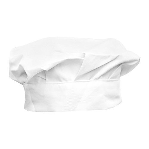 ReFaxi® Adult Elastic White Catering Baker Kitchen Cook Chef Hat Costume Cap One Size
