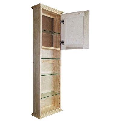 "Ashley Series 49.5"" x 15.25"" Wall Medicine Cabinet Size: 49.5"" H x 15.25"" W x 4.25"" D"