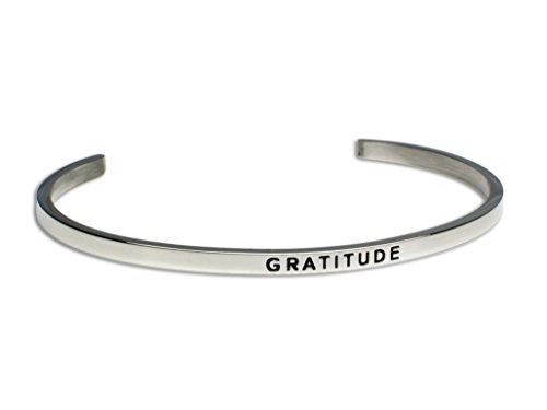 Gratitude:Gift for Her,Mantra Bracelet, Inspirational gift,100% Guaranteed,Perfect Gift.