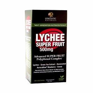 Genceutic Naturals Lychee Super Fruit 500 mg,