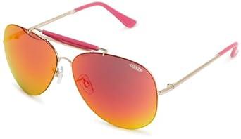 Sinner Vegas Aviator Sunglasses Gold Pink One Size