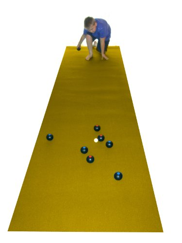 Carpet Bowls & Yellow Bowls Mat (400 X 100cm) - perfect for restricted indoor area!