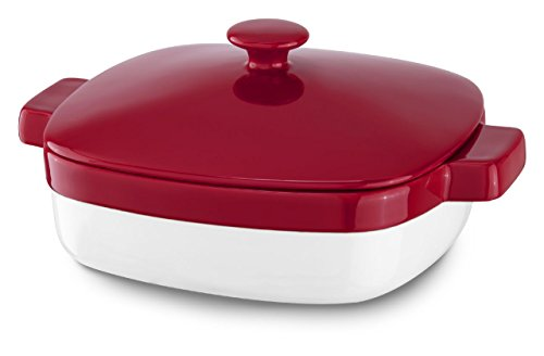 KitchenAid KBLR28CRER Streamline Ceramic 2.8-Quart Casserole Bakeware - Empire Red (Red Kitchenaid Microwave compare prices)