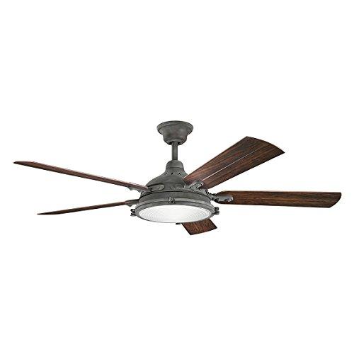 Kichler 310117WZC Ceiling Hatteras Bay Patio Fan, 60